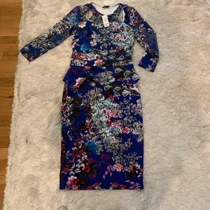 Bebe Winter Floral Top and Skirt